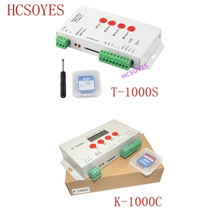 Image 1 - K 1000C (T 1000S更新) コントローラK1000C WS2812B、WS2811 、APA102 、t1000S WS2813 led 2048 ピクセルプログラムコントローラDC5 24V