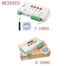 K 1000C (T 1000S güncelleme) denetleyici K1000C WS2812B,WS2811,APA102, t1000S WS2813 LED 2048 piksel Program kontrolörü DC5 24V