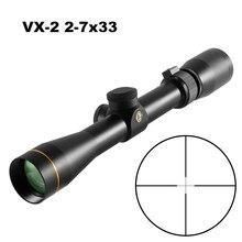VX-2 2-7x33 Mil Dot оптические прицелы компактный объем дальномером охотничьи прицелы кросс-волос сетка с 11/20 мм крепление