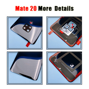 Image 4 - Original for Huawei Mate 20 Battery Cover Mate20 Pro Back Glass Panel For Huawei Mate20 Rear Door Housing Case With Camera Lens