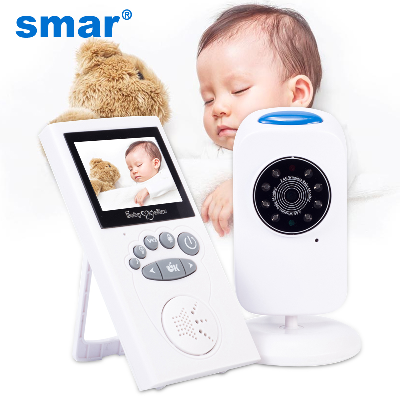 Smar 2 4 inch Audio Video Wireless Baby Monitor Security Camera Baby Nanny Music Intercom Night Vision Temperature Monitoring