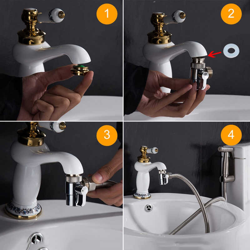 High Quality Faucet Valve Diverter Sink Valve Water Tap Faucet Splitter Adapter Home Bathroom Kitchen Diverter Bibcocks Aliexpress