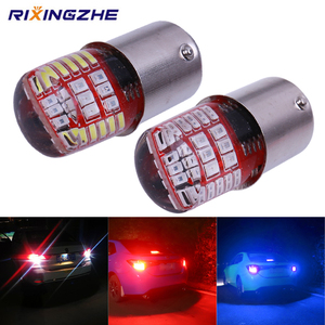 BAY15D P21/5W 1157 Led Double color Strobe LED 3014 42 LED Flash light brake blink light Lamp Bulb red white Blue Auto Brake(China)