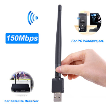 Mini USB Wifi Adapter High Speed Wi Fi Ethernet MT7601 150Mbp USB WiFi Receiver Wireless 802.11n/g/b For DVB S2 DVB T2 Decoder image