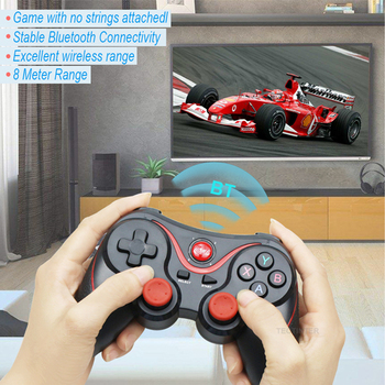 Terios T3 X3 Wireless Joystick Gamepad PC Game Controller Support Bluetooth BT3.0 Joystick For Mobile Phone Tablet TV Box Holder 2