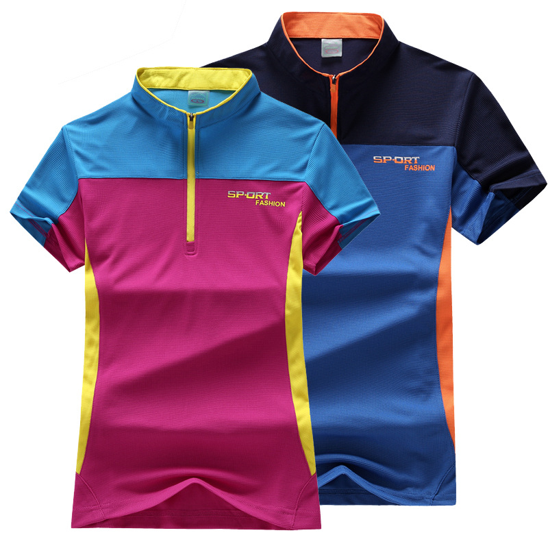 Couple Sports T-Shirt Men Outdoor Summer Running Mountaineering Quick-Dry Shirt Moisture Wicking Thin Short-Sleeve T-Shirt Women