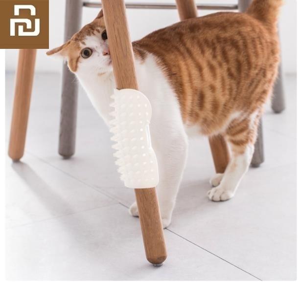 Youpin Pet Cat Dog U Mark Itching Brush Soft Silicone Comfort Massage Corner Massage Brush Hair Removal Comb Scratch Itches