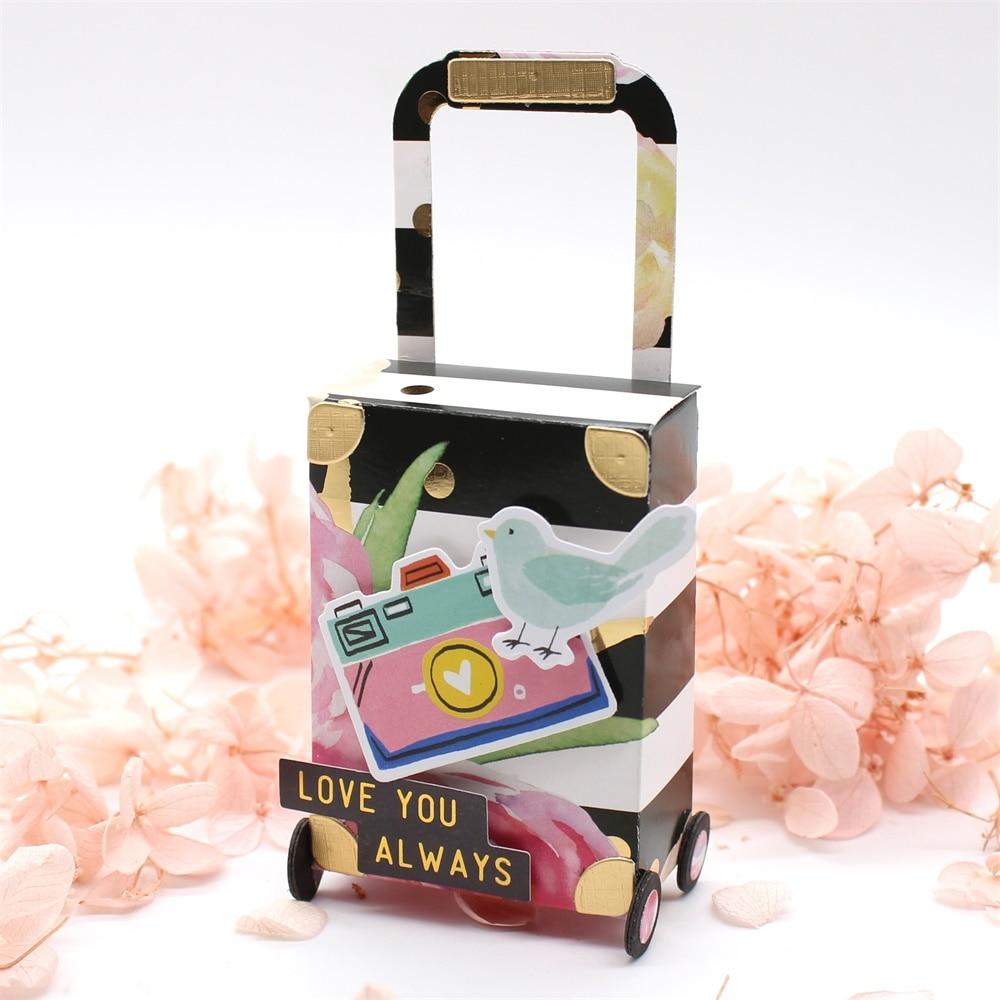 KSCRAFT Luggage Metal Cutting Dies Stencils For DIY Scrapbooking Decorative Embossing DIY Paper Cards