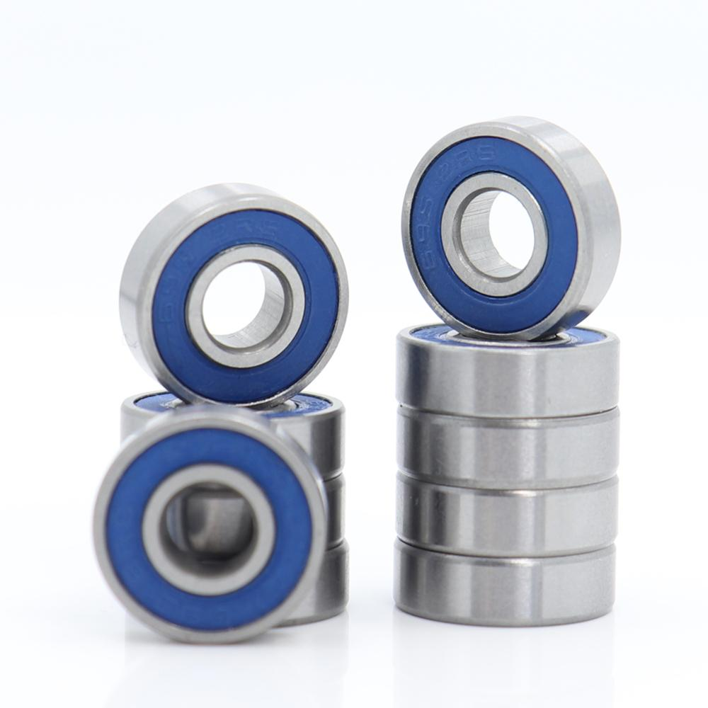 5 PCS 695-2RS 5x13x4 Miniature Ball Bearings Black Rubber Sealed Bearing