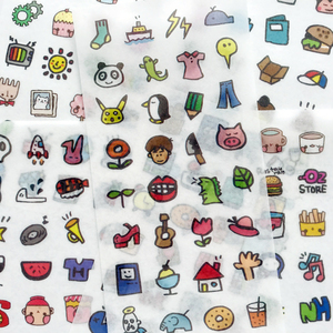 6 Sheets Cute Little Things Adhesive Stickers Decorative Album Diary Stick Label