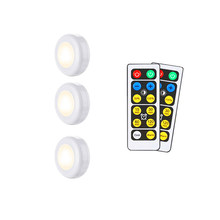 Wireless Dimmable Touch Sensor Dual Color Cabinet Light LED Night Lamps Battery Power Remote Control Suitable for Kitchen Stair(China)