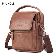 Men's shoulder bag oil wax head layer cowhide messenger bag fashion men Genuine Leather стоимость