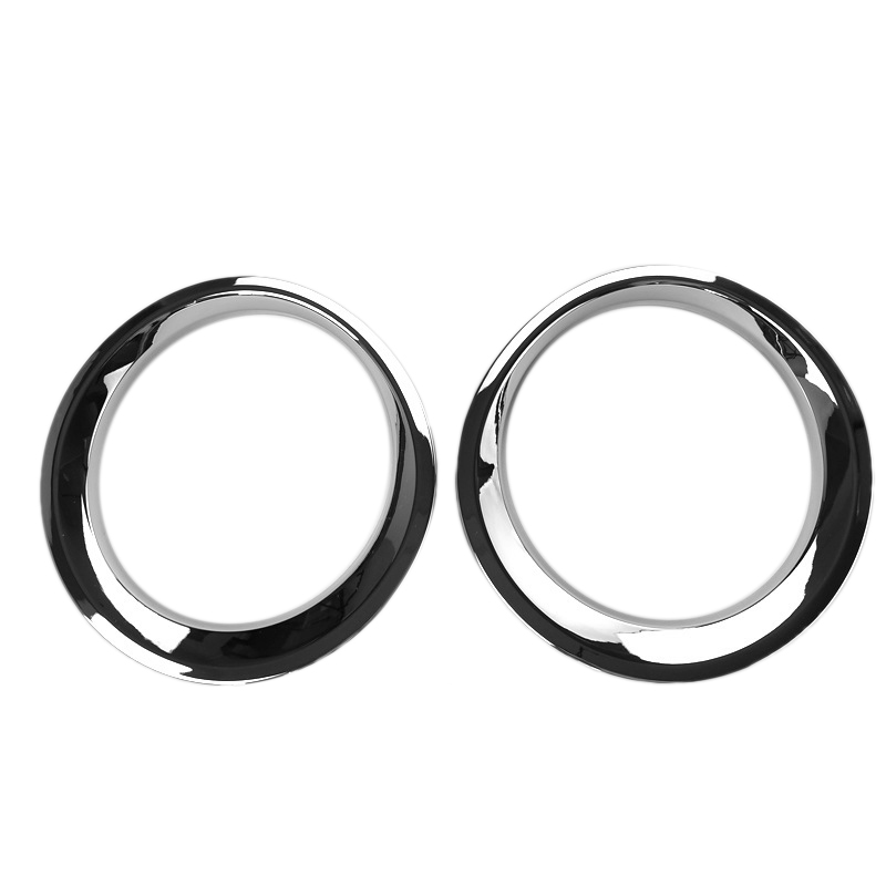 2Pcs Chrome Car Front Headlight Lamp Cover Trim Frame Decoration For Jeep Patriot 2011-2015 Car Styling