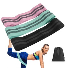 SFIT 1PC Hip Band Latex silk Yoga Resistance Wide Fitness Exercise Legs Loop For Circle Squats Training Anti Slip