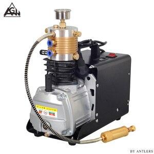 Image 1 - 30Mpa 4500psi 300Bar Hoge druk Lucht PCP Geweer Paintball Duiken scuba elektrische pomp met grote filter Mini Compressor