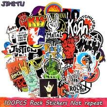 100 pçs rock adesivos música retro banda graffiti jdm adesivo para diy guitarra motocicleta portátil bagagem skate carro snowboard
