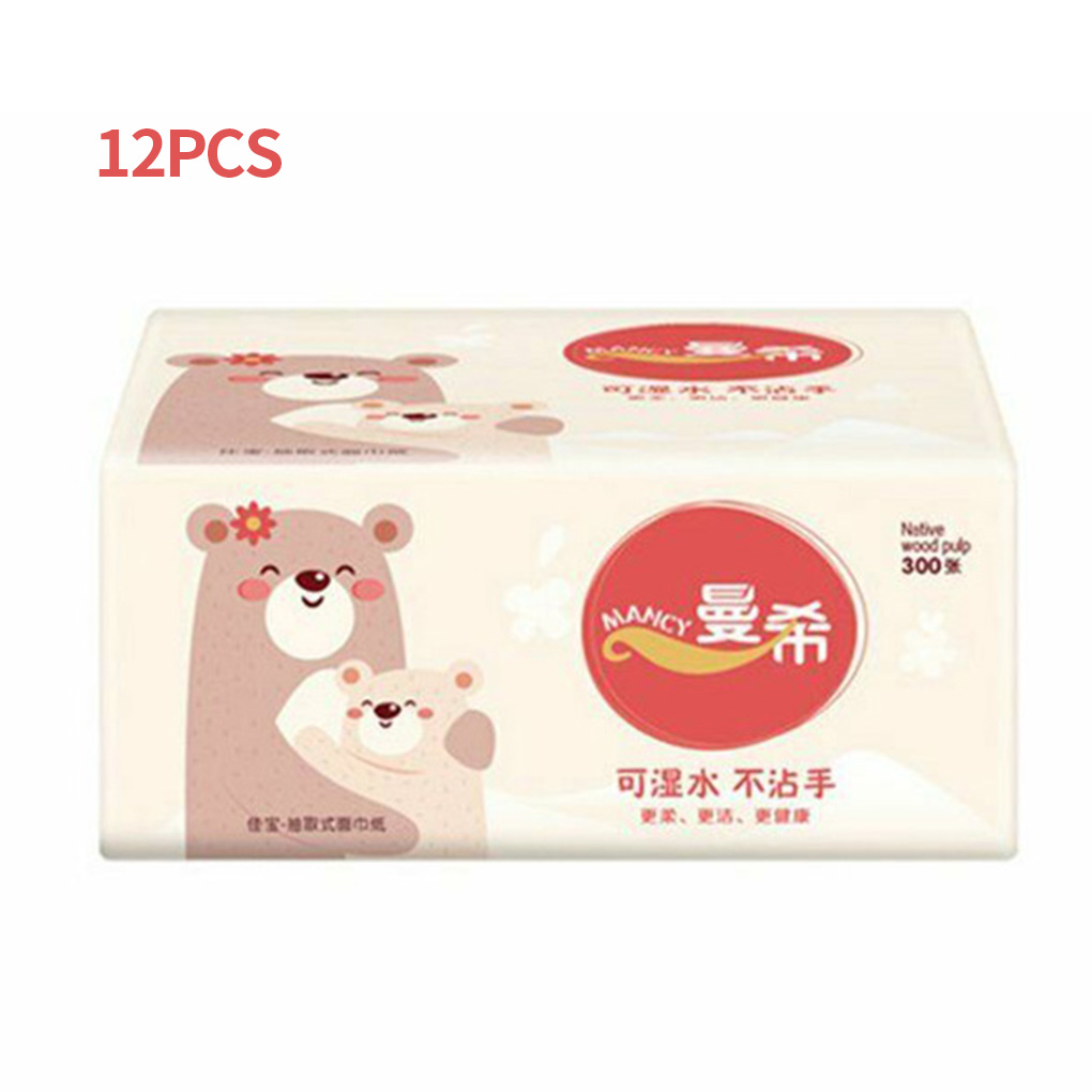 12 Bags Toilet Tissue 3 Layers Toilet Paper Bathroom Washroom Water Absorption Tissue Household Hotel Restaurant Paper Napkin
