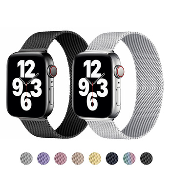 band for apple watch series 6 5 4 3 2 1 sport bracelet 42 mm 38 mm 44mm strap for apple watch iwatch band metal loop Milanese Loop strap For apple watch series 6 44mm 38 mm Metal mesh bracelet iWatch band 40mm 42mm belt Apple watch band 5 4 3 SE