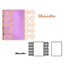 Naifumodo Dies Envelope Frame Lace Border Metal Cutting or DIY Scrapbooking Craft Card Embossing Die Cut New Template