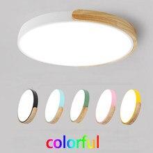 Ультратонкие светодиодные потолочные светильники для гостиной, 5 см, с регулируемой яркостью, современный потолочный светильник, скандинав...