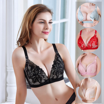 Breastfeeding Maternity Nursing Bras For Pregnant Women Pregnancy Underwear sexy pregnant lingerie mother bra plus size lace - discount item  30% OFF Maternity Clothings