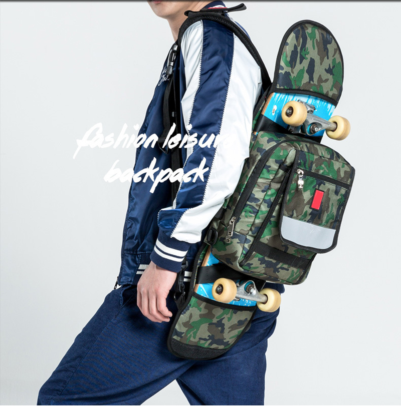 Flodable Skateboard Deck Bags Thick Polyester Outdoor Sports Shoulder Bag Skateboarding Backpack Practical Durable