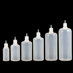 Image 5 - 50pcs 3/5/10/15/20/30/50/100/120 ml Empty LDPE Plastic Squeezable E Liquid Juice Dropper Eye Bottles Long Tip Cap Vape Container