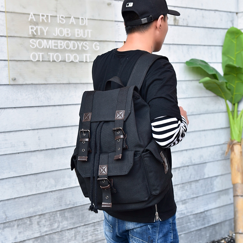 Image 5 - DIDABEAR Canvas Backpack Men Backpacks Large Male Mochilas Feminina Casual Schoolbag For Boys High Quality-in Backpacks from Luggage & Bags