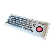 Нержавеющая сталь промышленная металлическая клавиатура с трекболом
