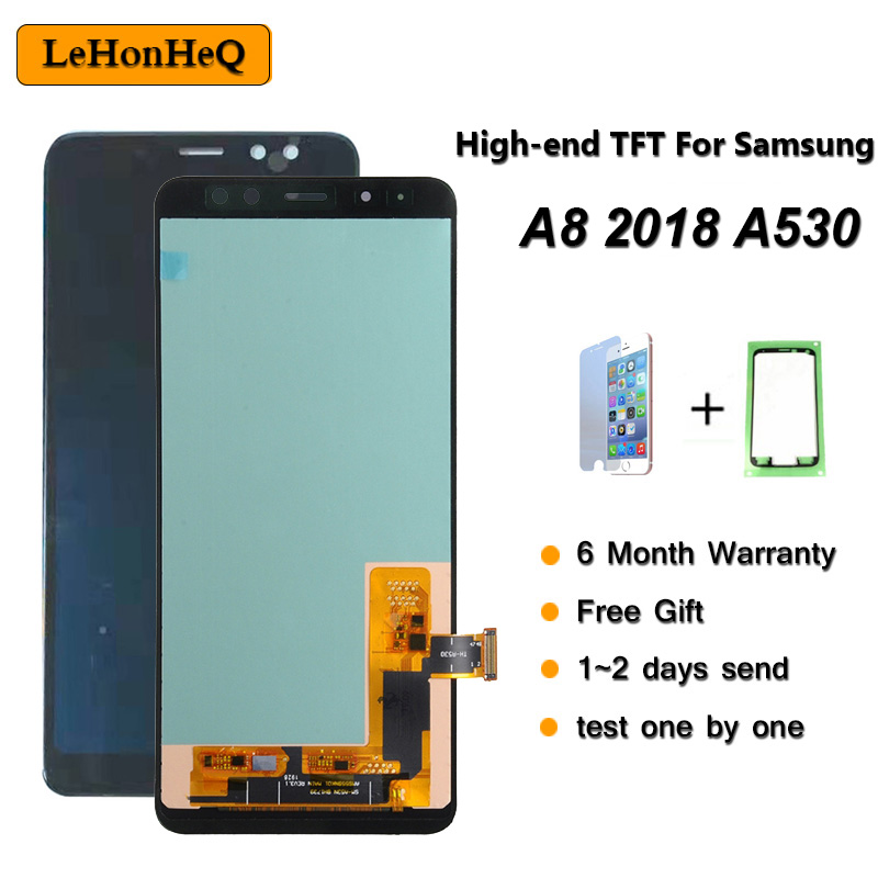 High-end TFT For <font><b>Samsung</b></font> Galaxy A8 2018 A530 LCD Display Touch <font><b>Screen</b></font> Digitizer Assembly For <font><b>samsung</b></font> <font><b>A530F</b></font> A530DS A530N SM-A530N image