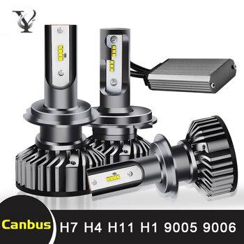 цена на Super Bright H7 Mini Led Headlight Bulbs H4 H1 H11 H8 H9 9005 HB3 H10 9006 HB4 9012 HIR2 Hi-Lo Beam Auto Headlamp Light Canbus