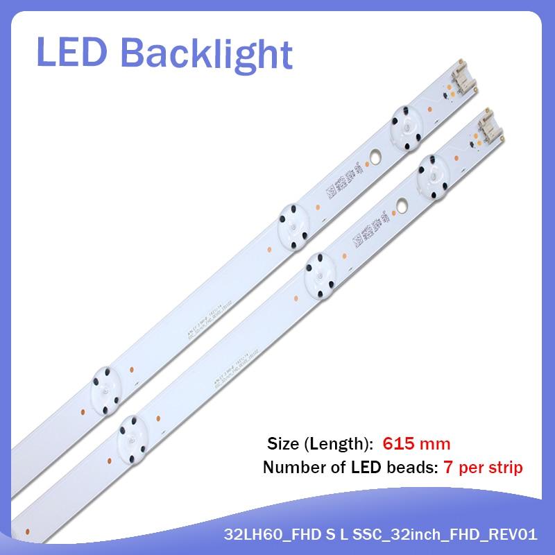 New Kit 2 PCS 6LEDs 615mm LED Backlight Strip For LG 32inch TV 32LH60_HD SSC_32inch_HD
