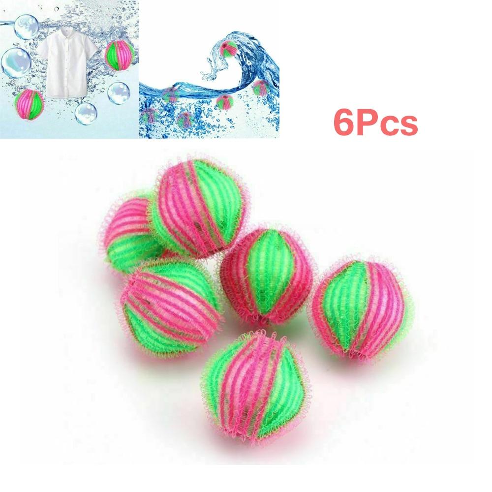 6Pcs Laundry Balls Fabric Pet Hair Remove Washing Machine Ball Clothes