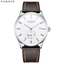 Parnis 41mm Watch Men Mechanical Diver Minimalist for Wristwatch Luxury Waterproof Automatic Seagulls1731 Movement
