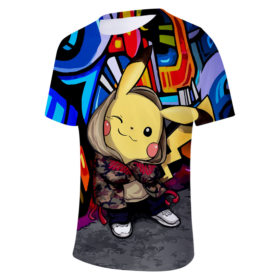 T-Shirts Backpack Pokemon-Go Kids Girls Clothes Boys New for Detective Pikachu 3D Printed