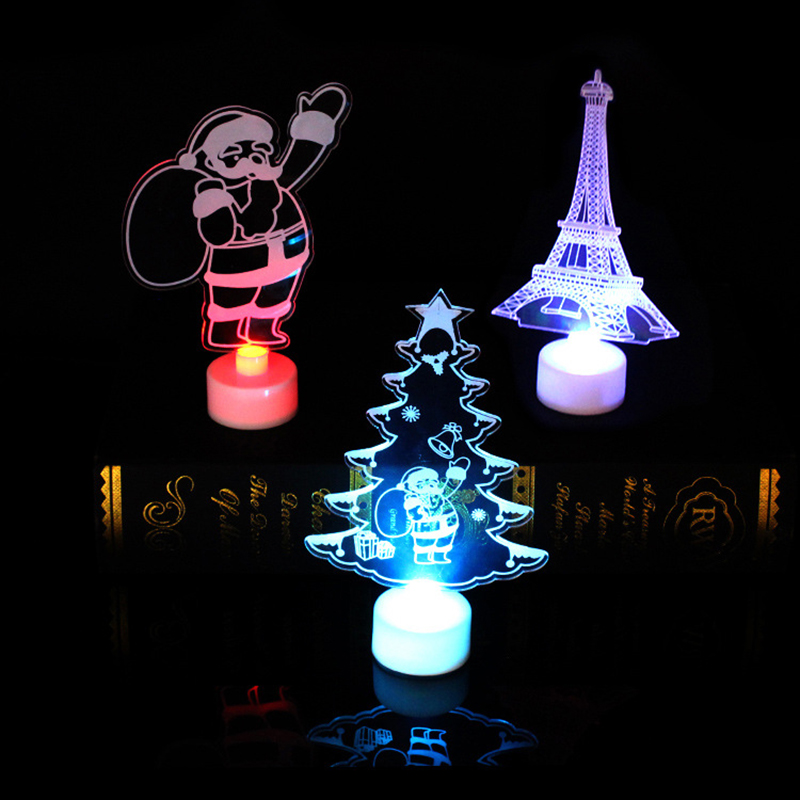 Night lights Home Christmas Decoration Santa Claus LED Lamp light Colorful Christmas gift Lamp Kids Bedroom Christmas lights
