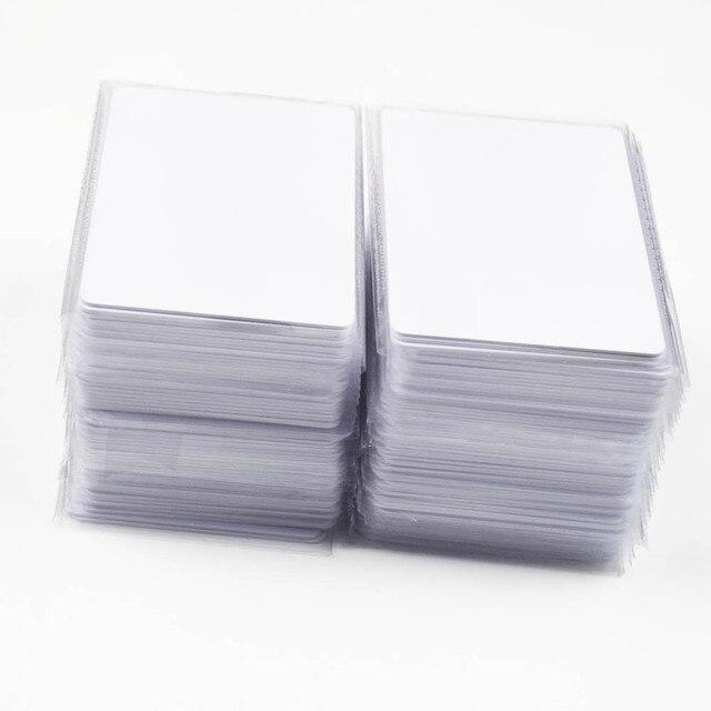 1000 Cái/lốc Nfc 1K S50 Mỏng Nhựa Pvc Thẻ Cảm Ứng RFID 13.56MHz ISO14443A Thẻ Thông Minh Phục Đán Chip Chống Thấm Nước