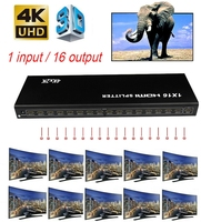4kx2k HDMI Splitter 1x16 Video Distributor Converter 4K 3D HD 1080P 1 In 12 16 Out for PS3 PS4 XBOX DVD Computer PC Output To TV