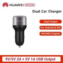 Original HUAWEI QuickCharge Auto Ladegerät Dual Ausgang 9 V/5 V 2A Und 5V 1A Ausgang Anzug Für android IOS Tablet