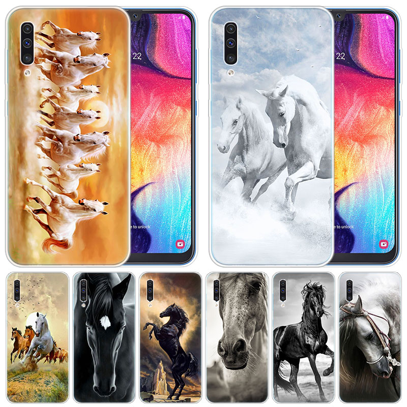 Silicone <font><b>Case</b></font> Great Beautiful <font><b>Horses</b></font> Running for <font><b>Samsung</b></font> <font><b>Galaxy</b></font> <font><b>A50</b></font> A70 A80 A40 A30 A20 A10 A20E A2 CORE A9 A8 A7 A6 Plus 2018 image