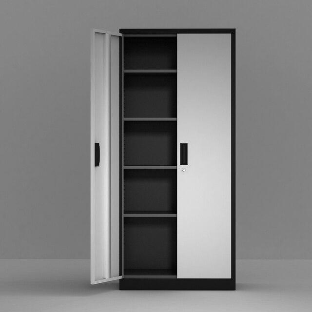 Steel Storage Cabinet , 5 Shelf Metal Storage Cabinet with 4 Adjustable Shelves and Lockable Doors 5