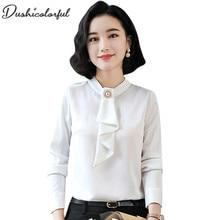 blouse women plus size womens tops  femme shirt white blue femininas de ver o 2019 kawaii long sleeve 4xl Dushicolorful
