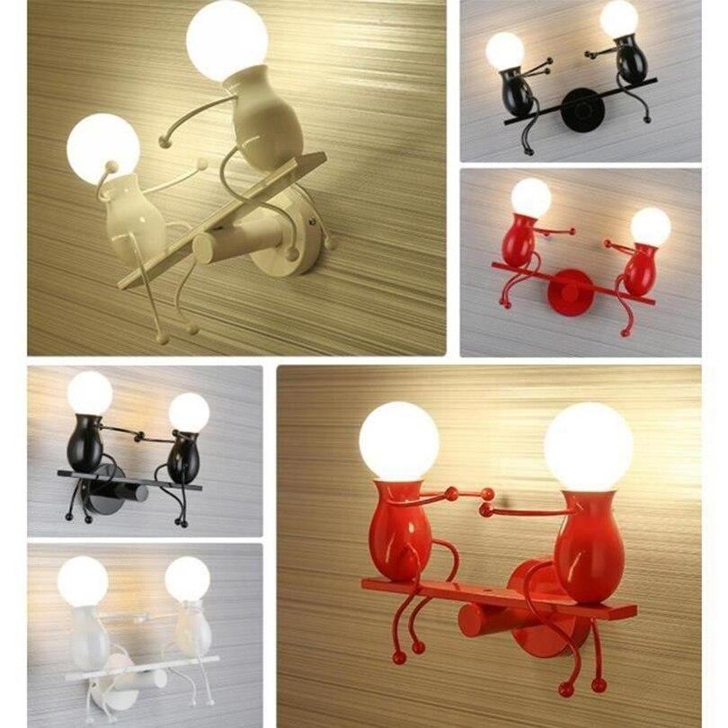 people forma dos desenhos animados lampada de cabeceira e27 tomada 04