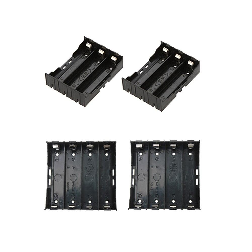 2 шт./компл. ABS 18650 Чехлы для портативного зарядного устройства 2X3X4X18650 держатель батареи Коробка Для Хранения Чехол 2 3 4 Слот контейнер для бат...