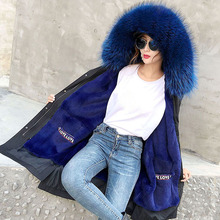 2019 winter jacket women new long parkas real fur coat big raccoon fur collar hooded parkas thick outerwear liner detachable children winter big real raccoon fur hooded thick warm parkas jackets boy girls fashion 2018 casual real liner coats bing bunny