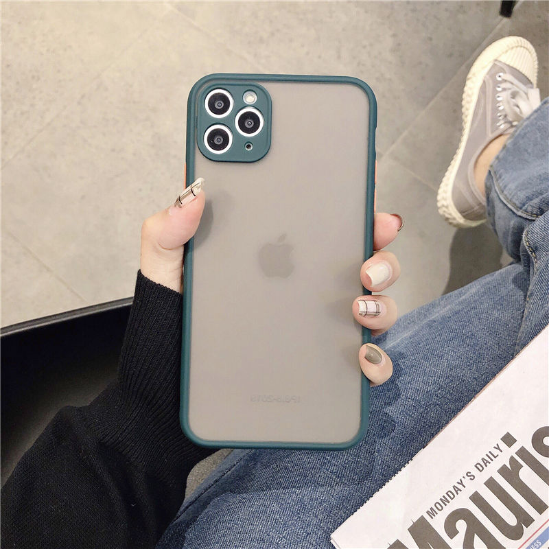 Matte Translucent Camera Protection Bumper Phone Cases For iPhone 11 11 Pro Max XR XS 12