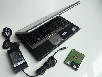 alldata v10.53 and michel-2015 auto repair software 2in1 tb hdd in d630 laptop 4g used computer ready to use image