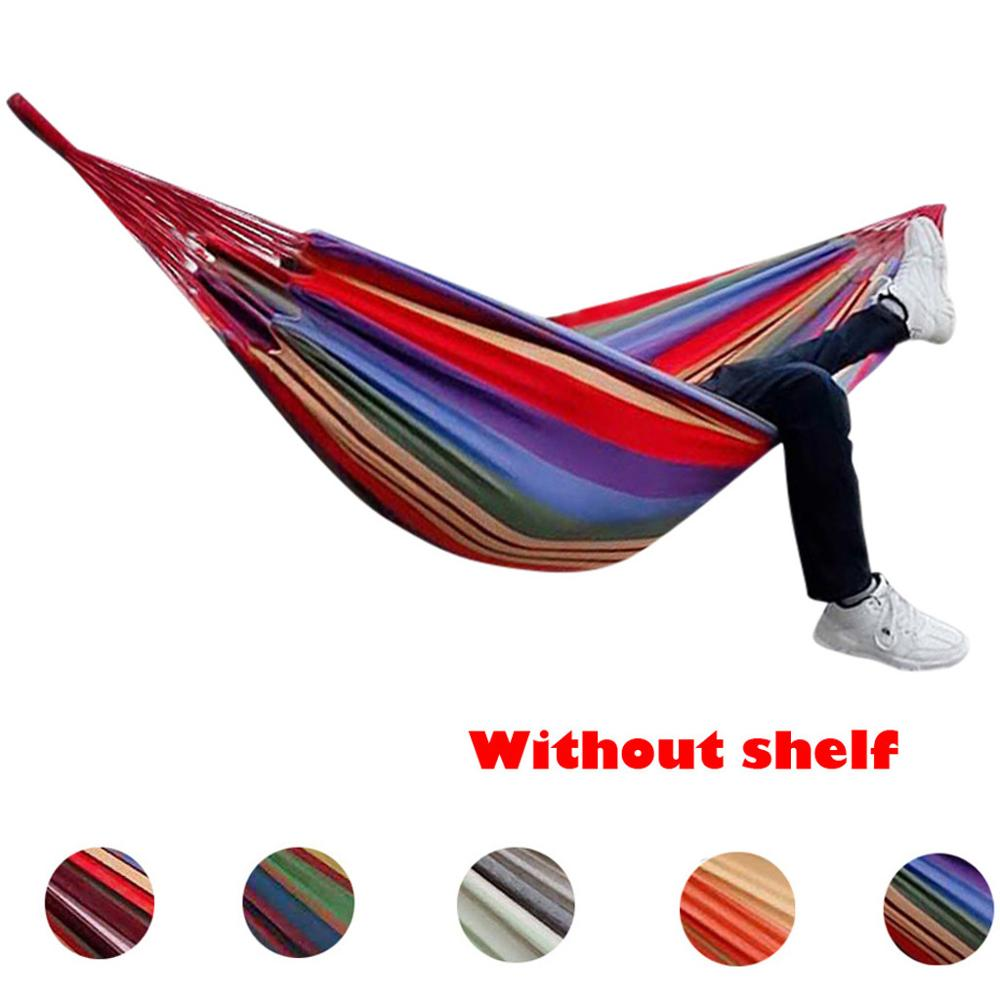 Hiking Camping 200 x 150 cm Hammock Portable Canvas Safety Hamack Hanging Chair Swing Outdoor Double Person Leisure Hammocks CD