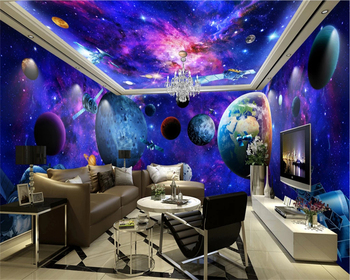 beibehang wall paper Earth 3D theme space full house background simple Europe suitable for interior decoration wallpaper