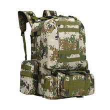 Outdoor Tactical Camouflage Backpacks 4 in 1 Military Bags Army Rucksack Men Sport Bag Camping Hiking Travel Climbing 50L